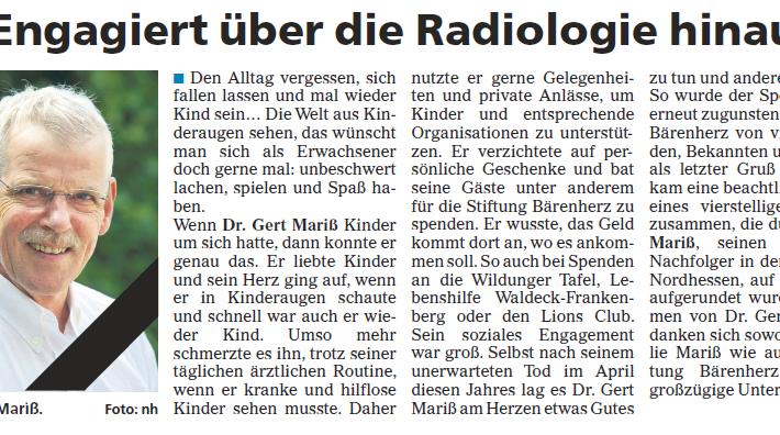 Engagiert über die Radiologie hinaus