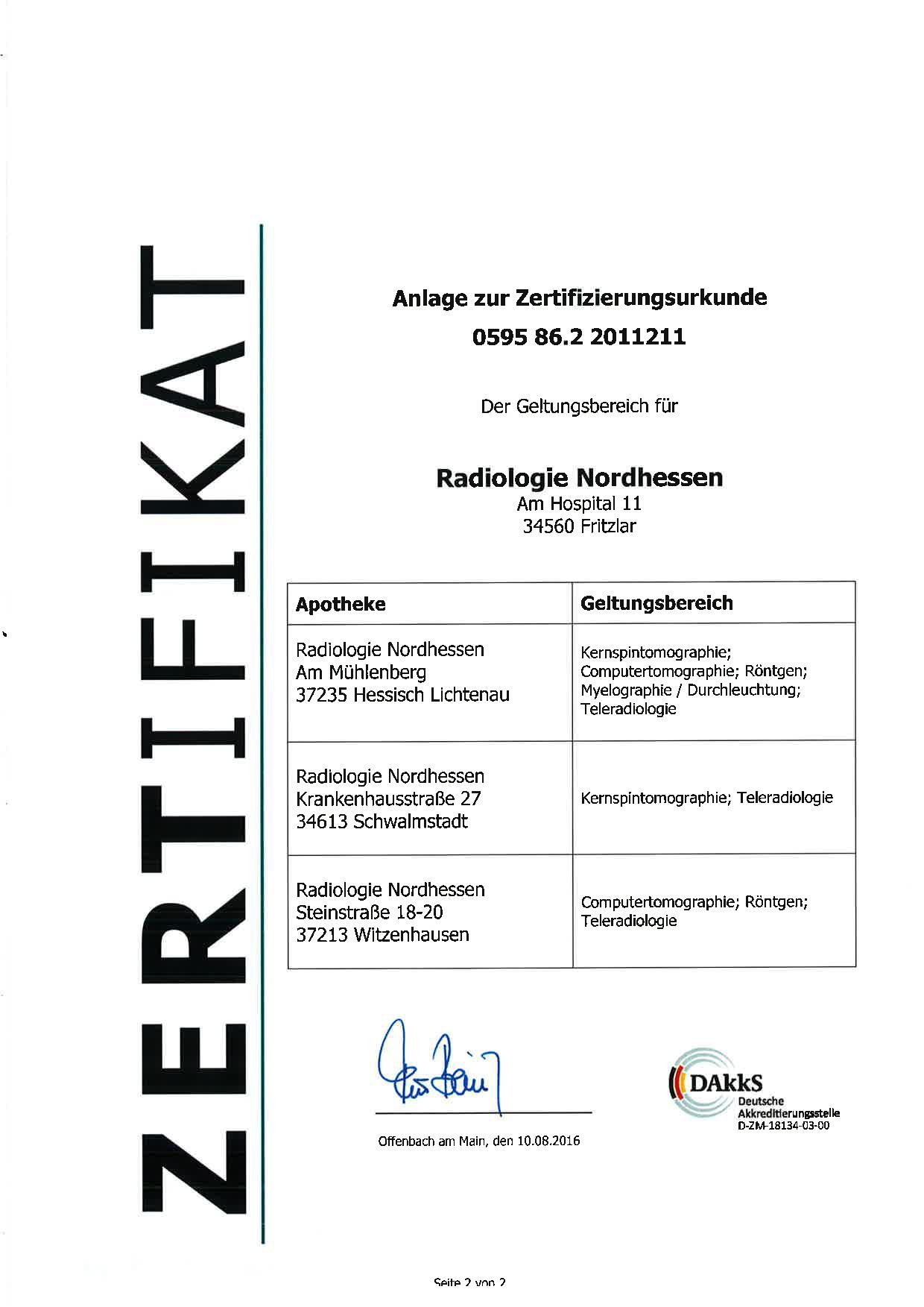 Qualitätsmanagement | Radiologie Nordhessen