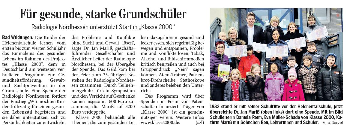 2014-12-19 WLZ Spende Klasse 2000