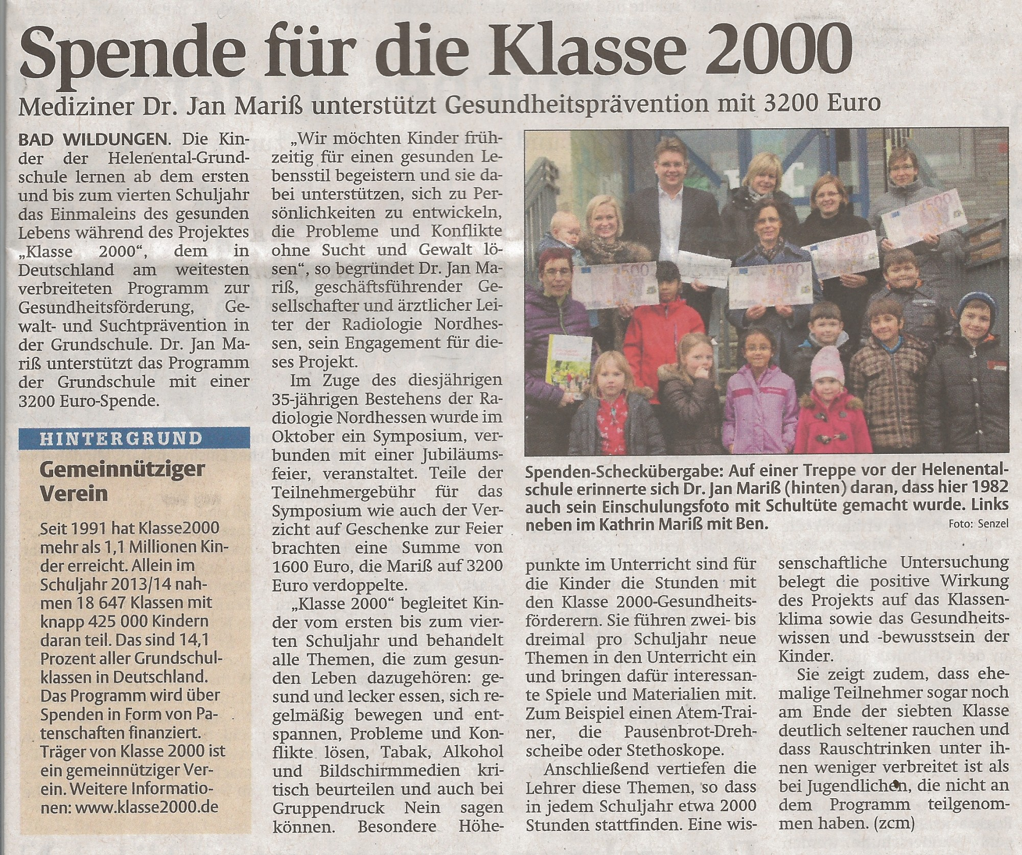 2014-12-23 HNA Spende Klasse 2000