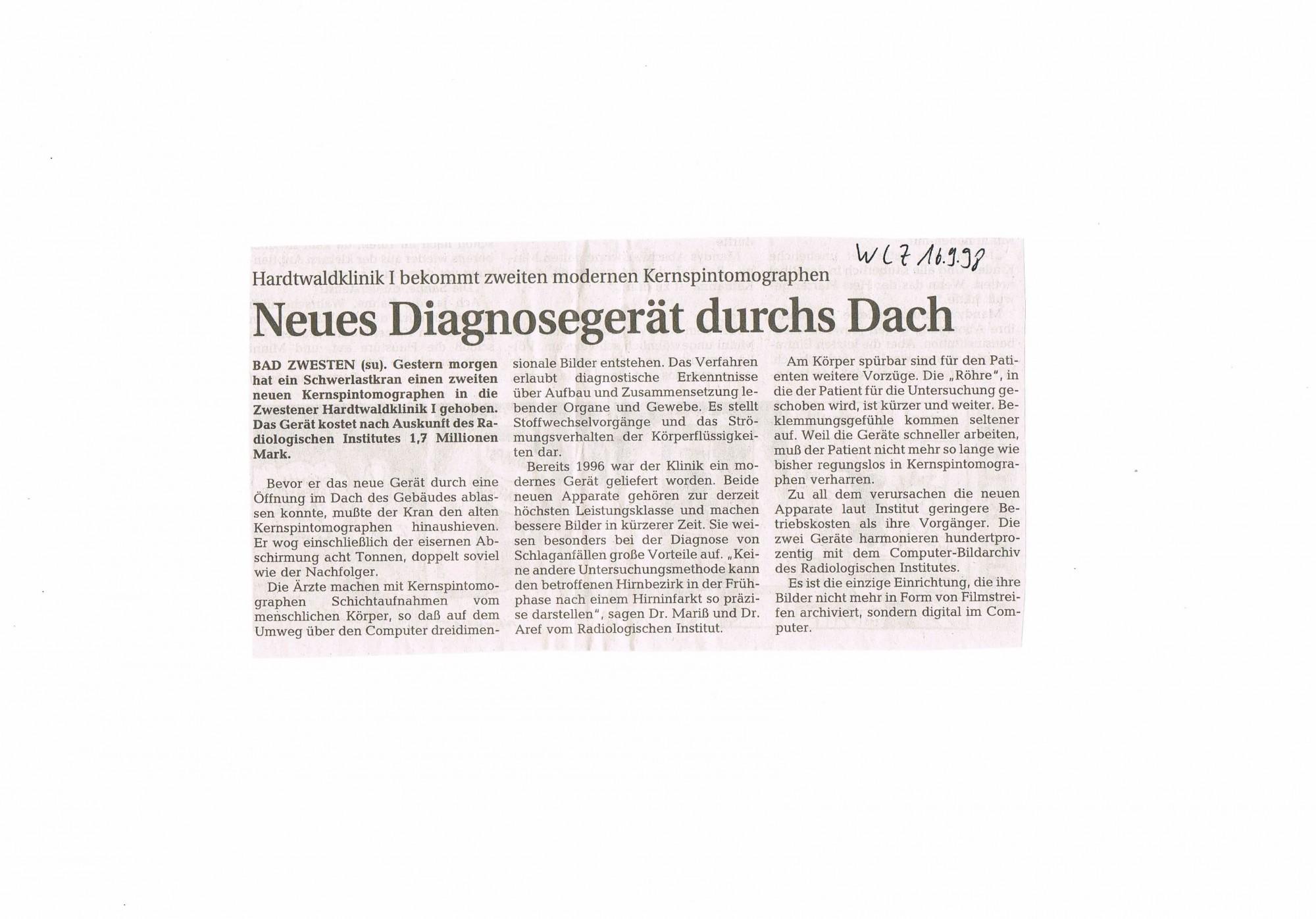 1998-09-16 Neues Diagnosegerät durchs Dach-001