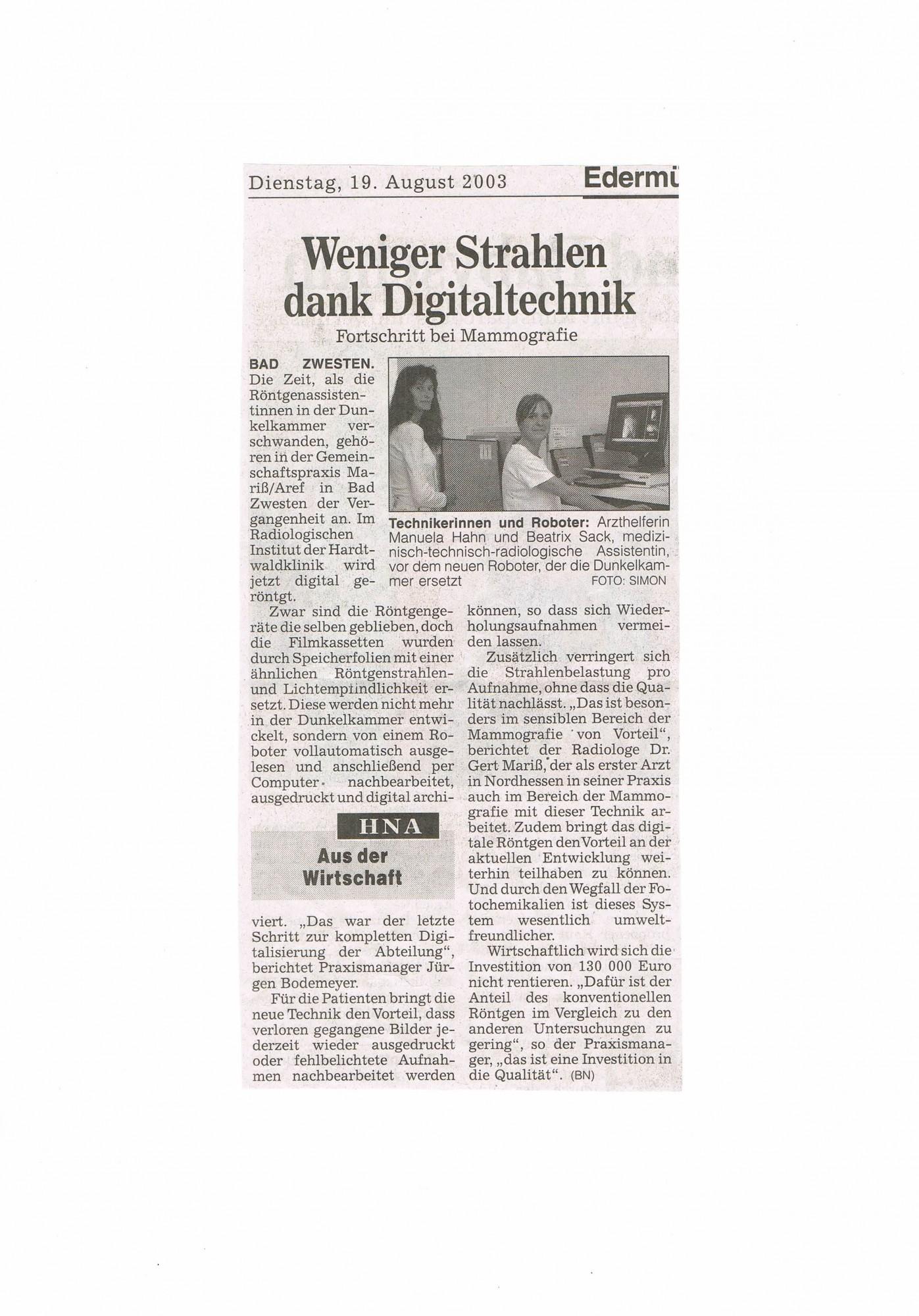 2003-08-19 Weniger Strahlen dank Digitaltechnik-001
