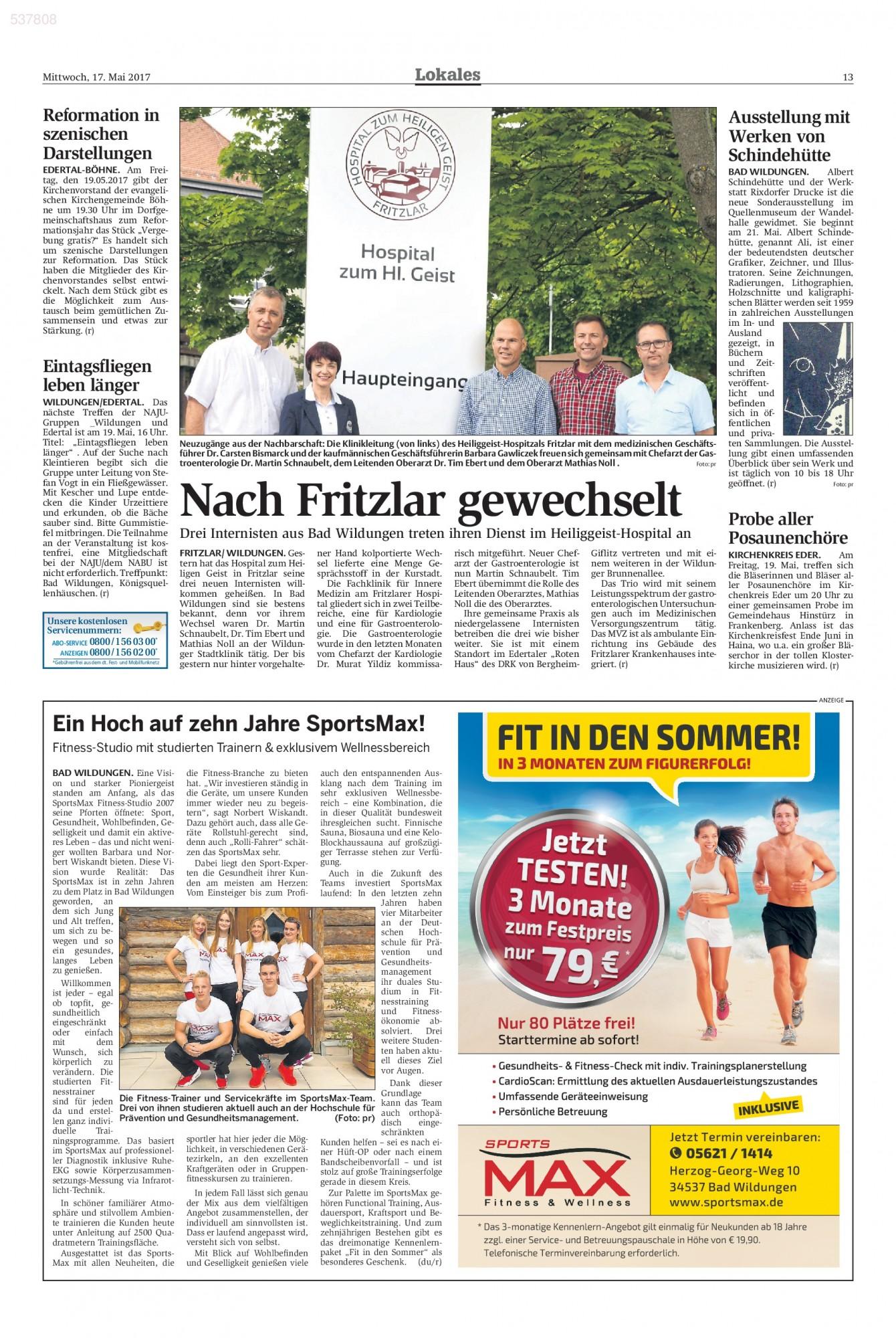Fritzlar Neue ärzte Im Hospital Zum Heiligen Geist Radiologie